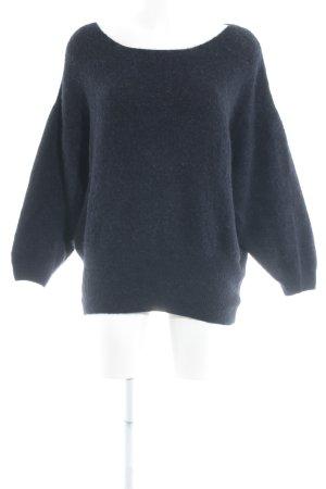 American Vintage Knitted Sweater dark blue casual look