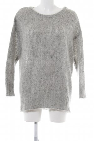 American Vintage Knitted Sweater light grey flecked casual look
