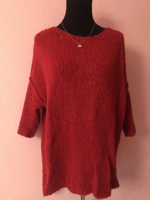 American Vintage Coarse Knitted Sweater red