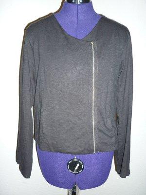 AMERICAN VINTAGE Sweatjacke schwarz Sweatshirt Jacke Biker asymmetrisch M 38