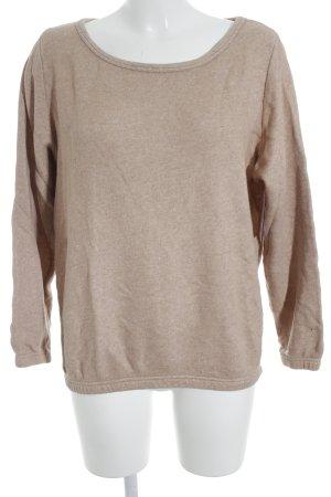 American Vintage Sweatshirt nude gestippeld casual uitstraling
