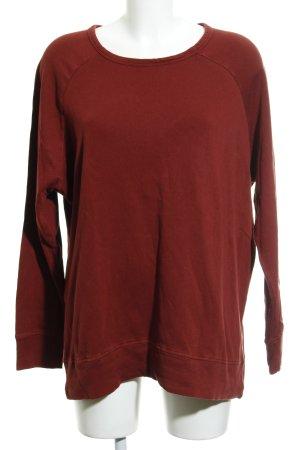 American Vintage Sweatshirt baksteenrood simpele stijl