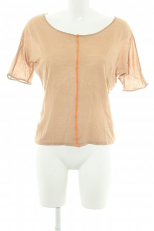 American Vintage T-shirt beige-orange fluo style simple