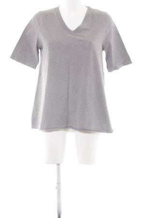 American Vintage T-Shirt grau-hellgrau meliert Casual-Look