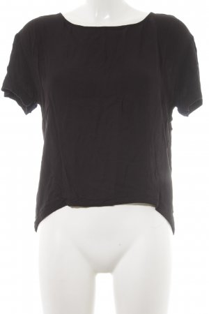 American Vintage Camiseta negro look casual