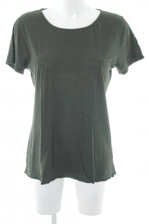 American Vintage T-shirt verde bosco puntinato stile casual