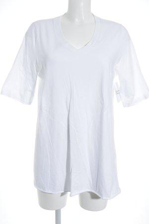 American Vintage Camiseta blanco estilo sencillo