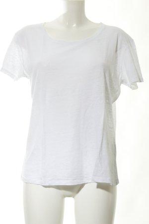 American Vintage Camiseta blanco puro look casual
