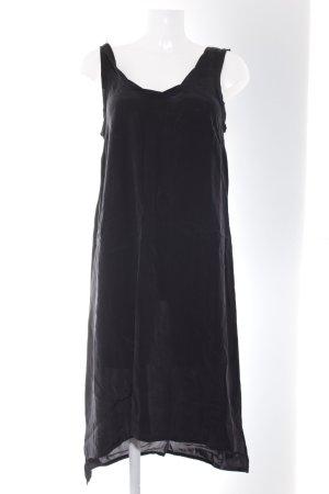 American Vintage Vestido tipo overol negro Patrón de tejido look casual