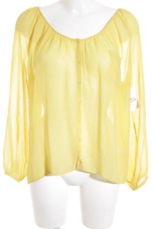 American Vintage Transparenz-Bluse dunkelgelb Beach-Look