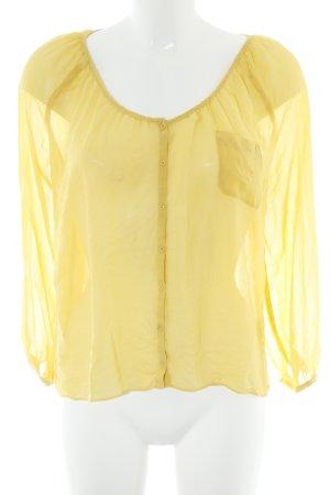 American Vintage Transparenz-Bluse gelb Casual-Look