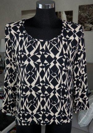 American Vintage TULSA Blusenshirt schwarz/ecru 3/4 Arm M Neu