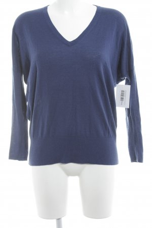 American Vintage V-Ausschnitt-Pullover blau Casual-Look