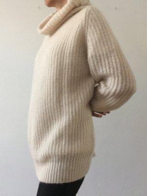 American Vintage Jersey de punto grueso crema Lana