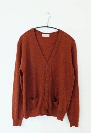 American Vintage Gebreid vest roodbruin Merinowol