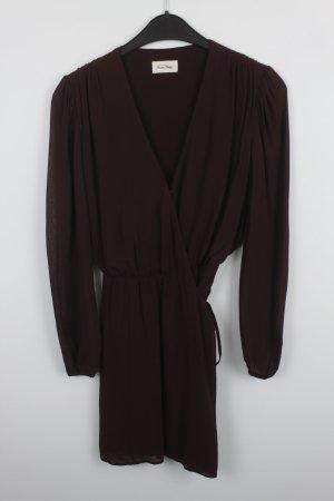 American Vintage Vestido cruzado burdeos Viscosa