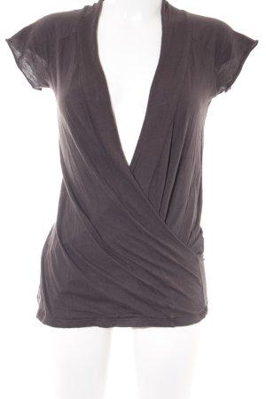 American Vintage Camisa cruzada marrón oscuro look casual