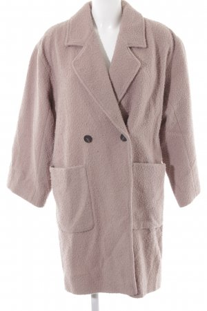 American Vintage Manteau en laine vieux rose style décontracté