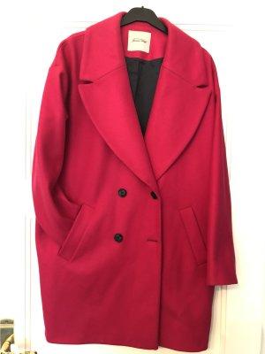 American Vintage Wollen jas roze-magenta