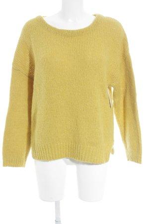 American Vintage Maglione di lana giallo scuro stile casual