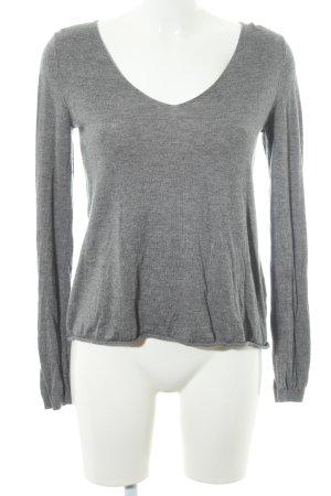 American Vintage Wool Sweater grey flecked casual look