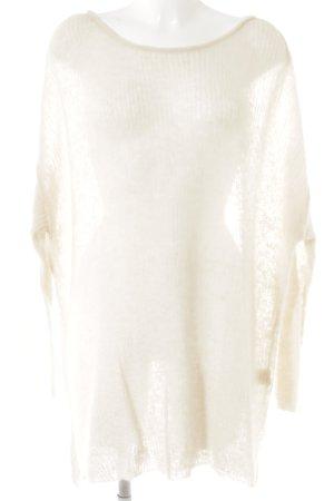 American Vintage Wollpullover hellbeige Casual-Look
