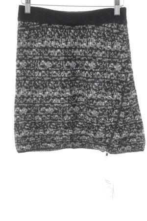 American Vintage Wollrock schwarz-weiß meliert Casual-Look