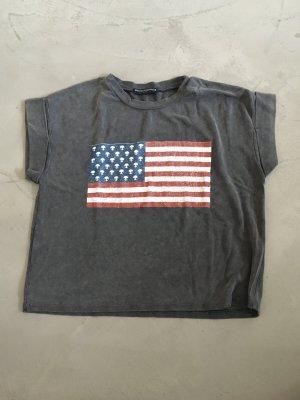 Amerika Print-Shirt // Brandy & Melville