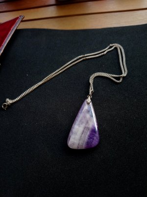 Amethyst Halskette 925 Silber