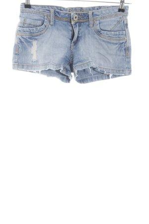 Pantaloncino di jeans blu stile da moda di strada