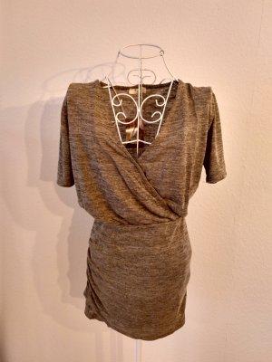 Camicia a tunica cachi-marrone-grigio
