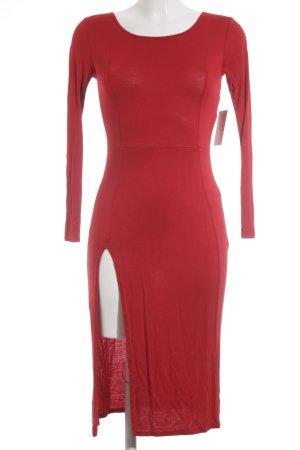 amiclubwear Jurk met lange mouwen rood simpele stijl