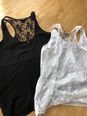 Amisu Blusa bianco sporco-nero