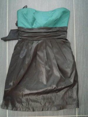 Amisu Abendkleid, Bandeaukleid, petrol/schwarz, Gr.36