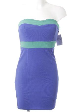 Amisu Vestido bandeau violeta azulado-menta elegante