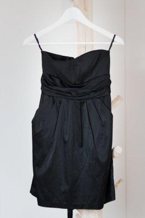 Amisu Bandeaukleid schwarz  Größe 34