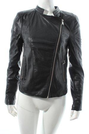 Amisu Bikerjacke schwarz Leder-Optik