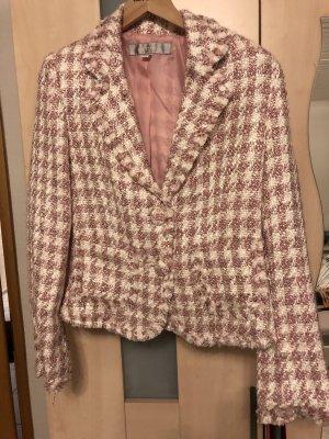 Amisu Knitted Blazer pink-white
