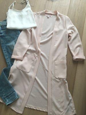 Amisu Blazer rosa nude lang Gr. S M 36 38 Weste Jacke