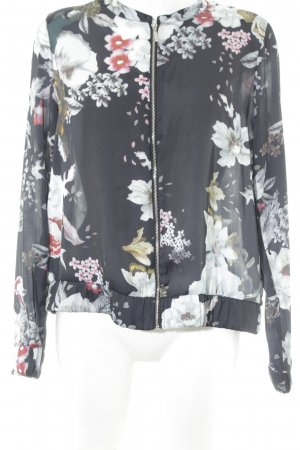 Amisu Blusenjacke Blumenmuster Casual-Look