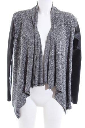 Amisu Cardigan light grey-black flecked business style