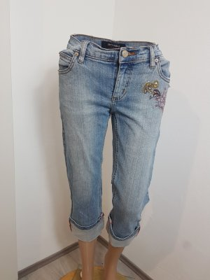 Amisu 3/4 Length Jeans azure cotton