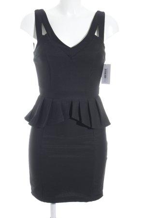 Amisu Vestido ceñido de tubo negro Paris-Look