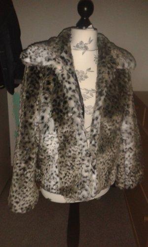 ★Amisu Fake Fur ★Mantel Blazer Gr 38