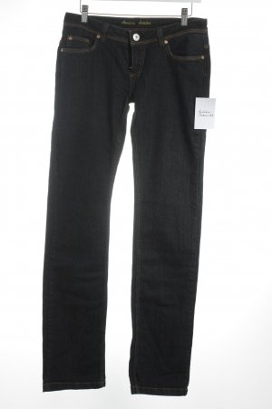 Amisu Five-Pocket-Hose dunkelblau meliert Casual-Look