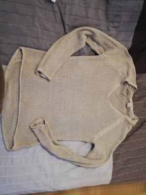 Amisu Gehaakte trui lichtgrijs