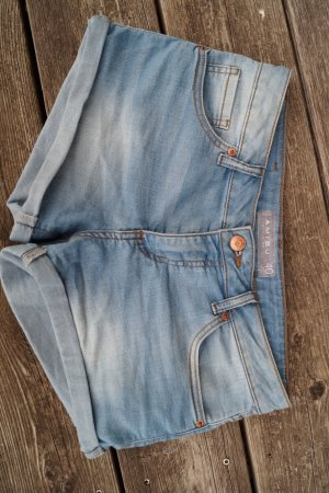Amisu Hot Pants hellblaue Jeansoptik
