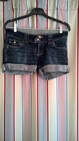 Amisu Hotpants kurze Jeansshorts Weite 28