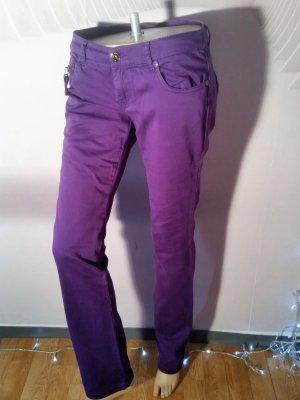 Amisu Jeans Neu Gr 38 Lila Reißverschluss an den Taschen