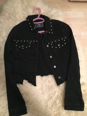 Amisu Denim Jacket black-light blue mixture fibre